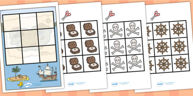 3 in a row Pirate Activity - pirate, pirate games, 3 in a row