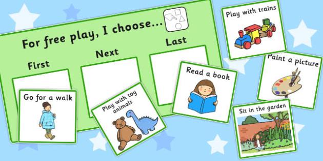 At Free Play I Choose Choice Cards - free play, I choose, cards