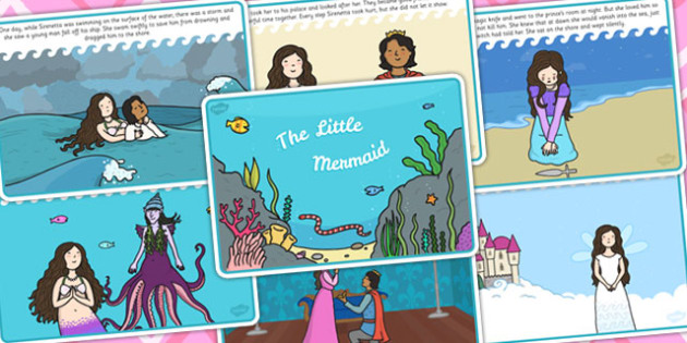 The Little Mermaid Story - traditional tales, stories, book, read