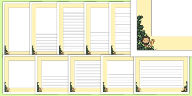 Adam and Eve Creation Story Page Borders (A4) - Adam, Eve, Eden, serpent, fruit, earth, garden, creation, creation story, page border, border, writing template, writing aid, writing, paradise, sea creatures, birds, stars, moon, sun, tree, evil, knowl