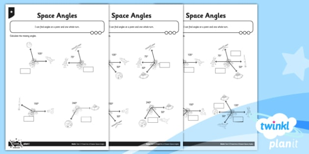 PlanIt Maths Y5 Properties of Shapes Space Angles Home Learning