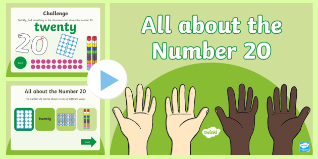 All About Number 20 PowerPoint (teacher made)