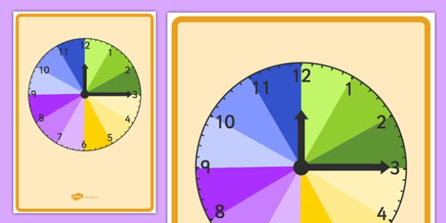 Display Clock Teaching Time - display, clock, teaching, time, teach, display clock