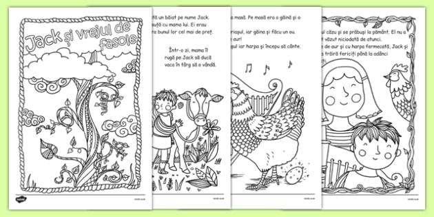 Jack și Vrejul De Fasole Poveste Ilustrată Cu Planșe De