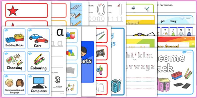 EYFS Classroom Set Up Pack for NQTs - EYFS New Class Activities