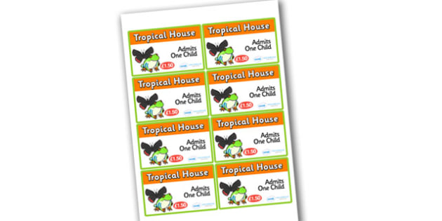 Tropical House Role Play Tickets - tropical house, role play, tropical house themed, tickets, tropical house tickets, role play tickets