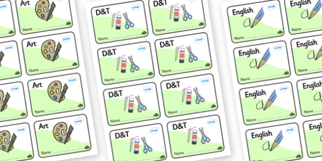 Yew Tree Themed Editable Book Labels - Themed Book label, label, subject labels, exercise book, workbook labels, textbook labels