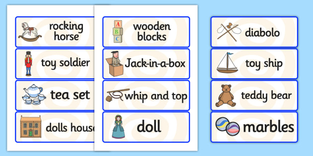 Toys From The Past Word Cards Word Cards Toys Word Card Flashcard