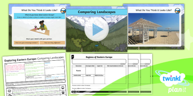 Geography: Exploring Eastern Europe: Comparing Landscapes Year 5 Lesson Pack 2
