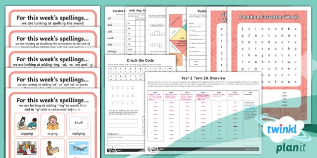 PlanIt Y2 Term 2A Bumper Spelling Pack - Spellings Year 2, Term 2A, bumper spelling pack, powerpoint, spelling, english, literacy, writing, y