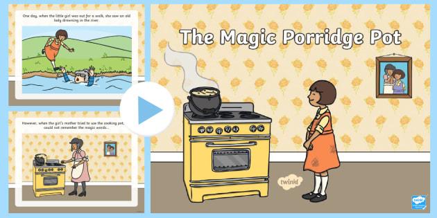 The Magic Porridge Pot Story PowerPoint - the magic porridge pot, the magic porridge pot powerpoint, the magic porridge pot story, magic porridge pot story