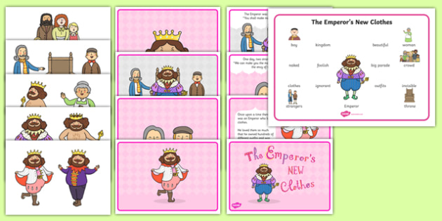 The Emperor's New Clothes Story Sack - the emperor's new clothes, story sack, story, resources