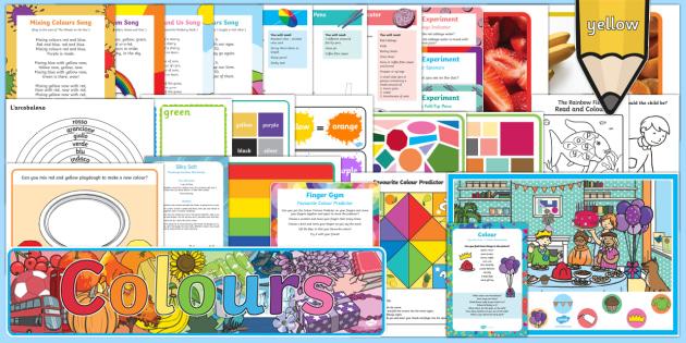 Colour Childminder EYFS Resource Pack - Colour, red, orange, yellow, green, blue, indigo, violet, rainbow, rainbow, child minder,