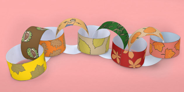 Autumn Themed Paper Chain - seasons, weather, display, design