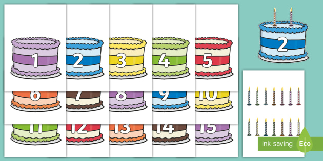 Groovy Counting Candles Birthday Cake And Candles Cut Outs Birthday Cards Printable Giouspongecafe Filternl