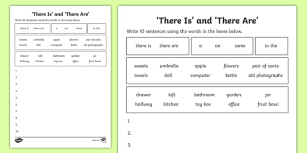There Is And There Are Worksheet (teacher Made)