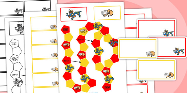 Chinese New Year Themed Editable Board Game - chinese new year