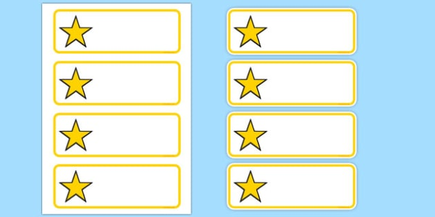 Editable Yellow Stars Drawer, Peg, Name Labels - Editable Label Templates, star, stars, Resource Labels, Name Labels, Editable Labels, Drawer Labels, Coat Peg Labels, Peg Label, KS1 Labels, Foundation Labels, Foundation Stage Labels, Teaching Label
