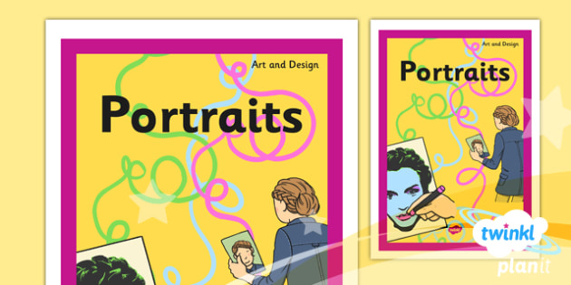 Art ks1 portraits unit book cover