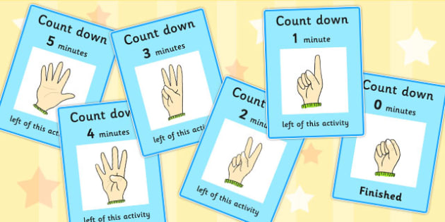 Count Down Cards - count down, cards, count, down, time, finish