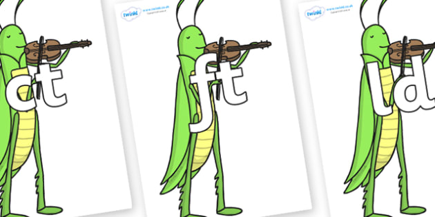 Final Letter Blends on Grasshopper - Final Letters, final letter, letter blend, letter blends, consonant, consonants, digraph, trigraph, literacy, alphabet, letters, foundation stage literacy