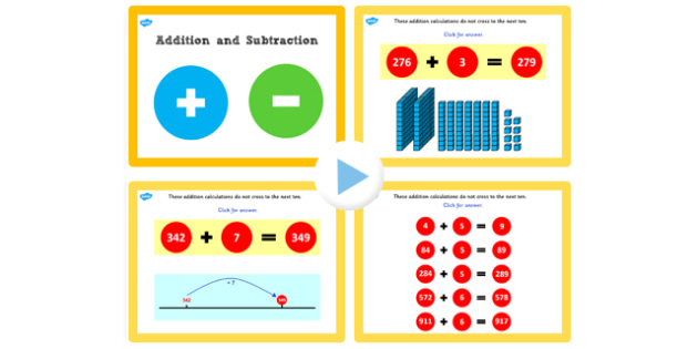 Y3 Addition and Subtraction Lesson 1a Adding Ones Not Crossing 10