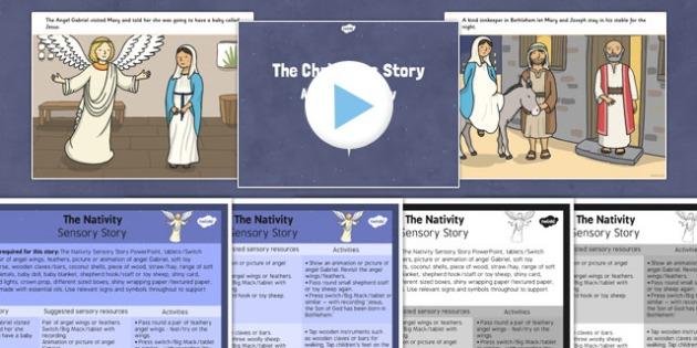 The Nativity Sensory Story Pack - the nativity, sensory story, story, sensory, christmas, nativity, pack