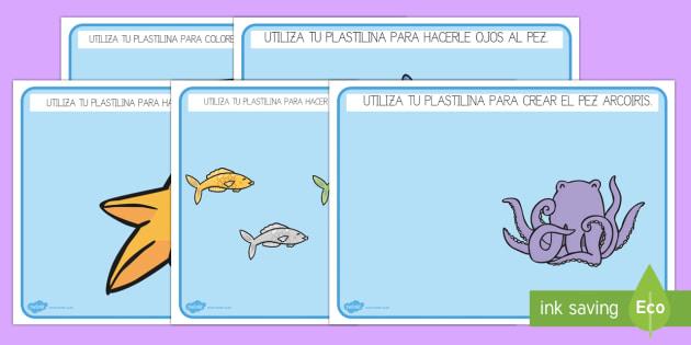 El pez arcoiris Tapiz de plastilina