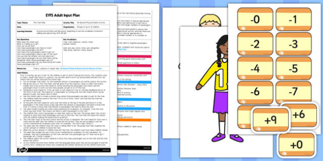 All Aboard Physical Maths Activity EYFS Adult Input Plan and Resource Pack