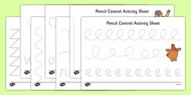 A Special Outing Pencil Control Sheets - a special outing, my gumpy's outing, pencil control, sheets