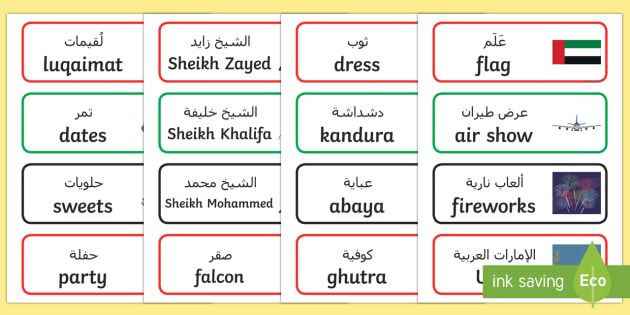 National day word cards arabicenglish uae national day national day word cards arabicenglish uae national day national day uae stopboris Choice Image