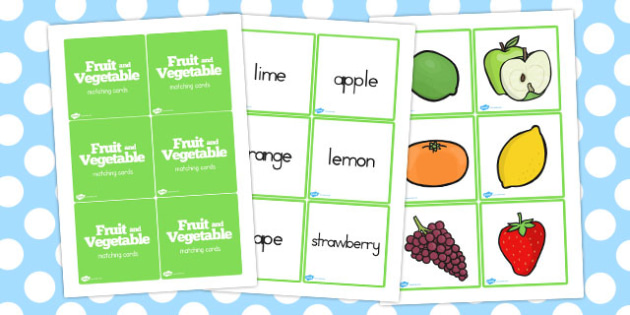 Fruit and Vegetables Matching Game - australia, fruit, vegetables