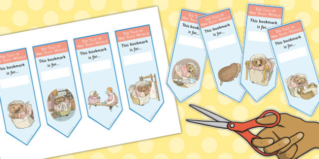The Tale of Mrs Tiggy Winkle Editable Bookmarks - mrs tiggy winkle