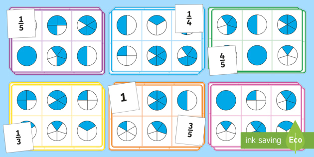 photo about Fraction Bingo Printable identified as Portion Bingo - KS2 Maths Major Education and learning Supplies
