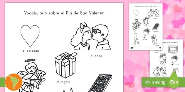 Hojas de colorear: Día de San Valentín - pintar, colorear