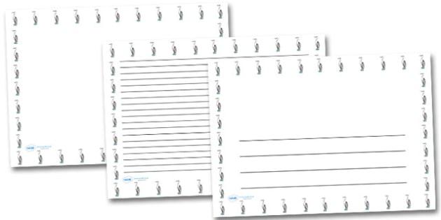 Heron Landscape Page Borders- Landscape Page Borders - Page border, border, writing template, writing aid, writing frame, a4 border, template, templates, landscape