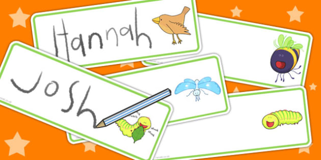 Editable Drawer Peg Name Labels to Support Teaching on The Crunching Munching Caterpillar