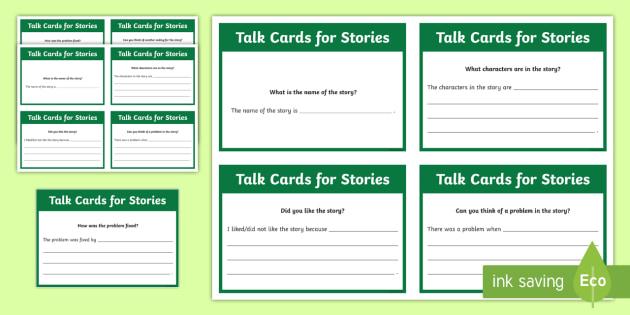 Talk Cards for Stories Flashcards - UAE, adec, moe, speaking, listening, talking, conversation, comprehension