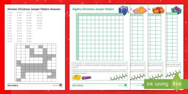 Christmas Maths Mosaic Ks3 Maths Beyond Secondary