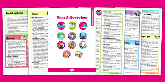 2014 National Curriculum Overview Booklet Year 5 - new curriculum, 2014