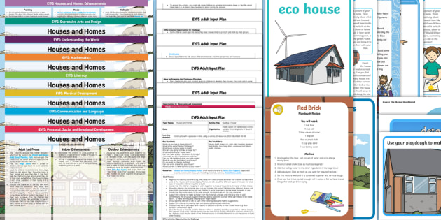 EYFS Houses and Homes Lesson Plan Enhancement Ideas and Resources Pack - planning