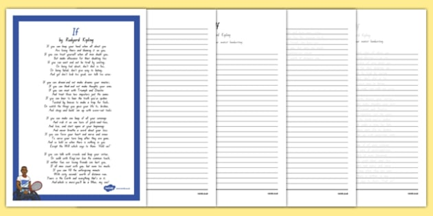 new zealand if poem handwriting practice worksheet worksheets worksheet. Black Bedroom Furniture Sets. Home Design Ideas