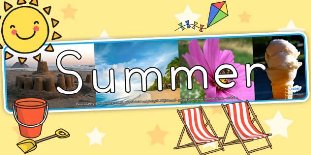Four Seasons Photo Display Banner Summer - seasons, summer