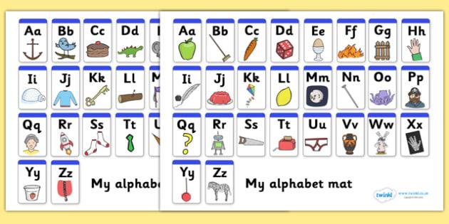 A Z Alphabet Mat Upper Lowercase Alphabet Mat Dfes Letters And Sounds