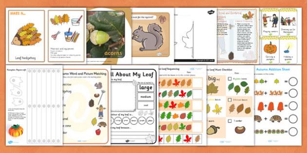 EYFS Autumn Teaching Resource Pack - eyfs, resource pack, autumn