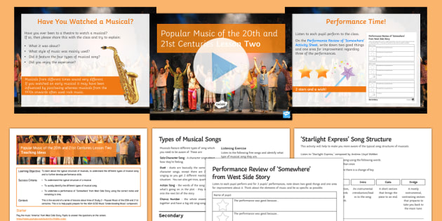 Popular Music of the 20th and 21st Centuries: Lesson 2 - GCSE Music, KS4, Secondary, Contextual Understanding, Listening, musical theatre