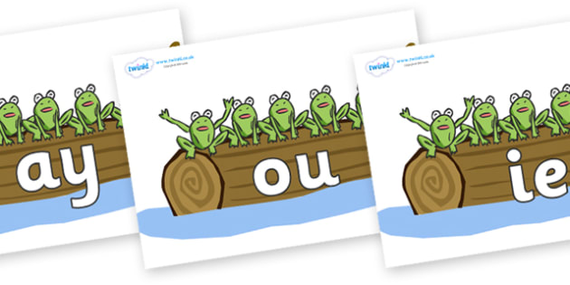 Phase 5 Phonemes on Little Speckled Frogs - Phonemes, phoneme, Phase 5, Phase five, Foundation, Literacy, Letters and Sounds, DfES, display