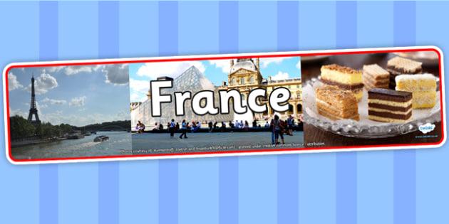 France Photo Display Banner - France, Display Banner, Banner, France Display Banner, Themed Banner, Photo Banner, French, French Banner