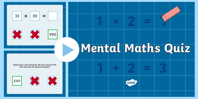 KS2 Mental Maths Quiz - KS2, key stage 2, mental maths, maths