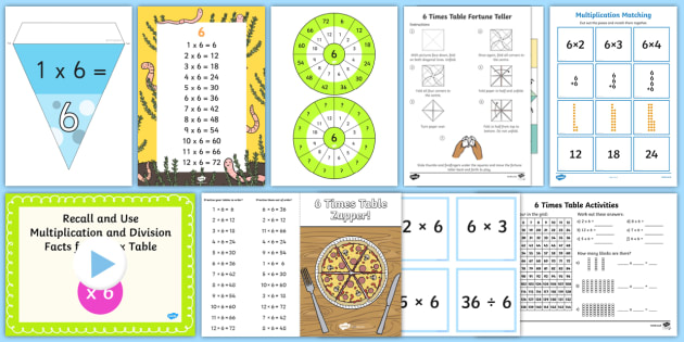 6 times table 6x 6 times tables six multiplication ibookread PDF